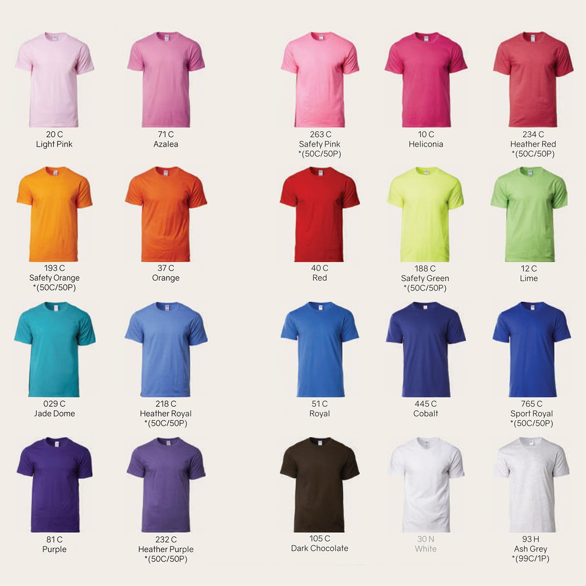 Gildan Roundneck Colours 2